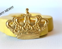 0546 Royal Crown Silicone Rubber Flexible Food Safe Mold Mould- resin, clay, fondant, gum paste, candy, chocolate, soap