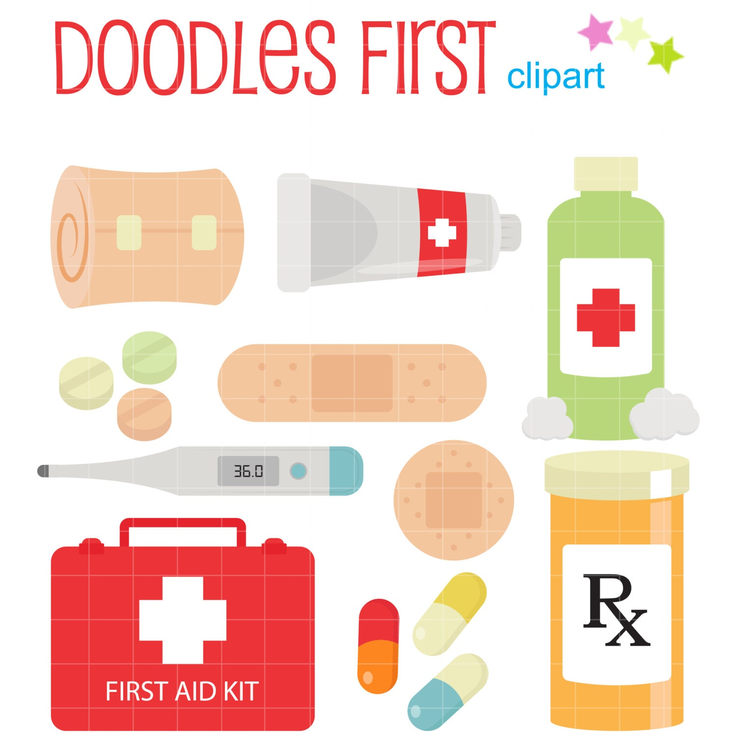 First Aid Kit Digital Clip Art for Scrapbooking by DoodlesFirst