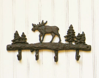 Wall Hooks, Coat Hooks,Moose Wall Hook,Cast Iron Wall Hooks,Wall Hooks,Cabin decor,Moose Wall Decor,Gifts for Him, Masculine Gifts