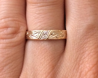 Design Band 14K Solid Gold Ring
