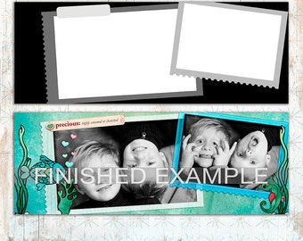 Facebook Cover Photo Timeline Template: Clusters - 3 Layered Photo collages - Timeline Photographer Tool - Instant Download