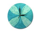Blue Clock, MODERN WALL CLOCK, Blue home decor