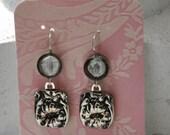 1906 Gloria Spoon Earrings with Venetian Glass Coin Bead