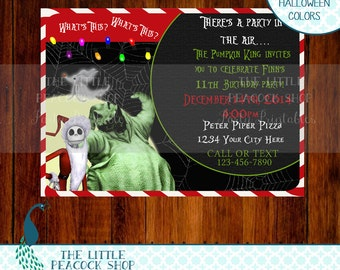 The Nightmare Before Christmas Jack Skellington  digital and printable invite! Christmas or Birthday party invitation!