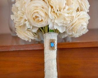 Peony, Roses, Ranunculus & Wedding Bouquet
