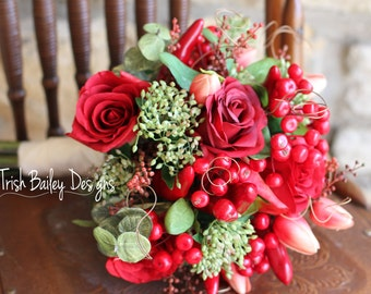 Red Chili Pepper Wedding Bouquet