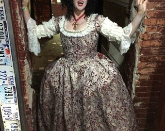 Rococo Countess 18th Century Style Court Gown  Fully Custom You Choose fabrics and Colors Custom Sized