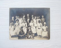 Rare Antique Photograph or Photo of Integrated Class, Students, Historical Collectible, Paper Ephemera,  1910's