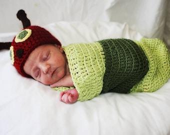 Newborn Halloween Costume, Baby Halloween Costume, Baby Caterpillar, Newborn Photo Prop, Newborn Photo, Newborn Caterpillar, Baby Shower