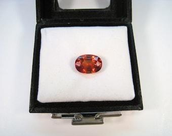 7.00 CT 13 mm x 9 mm Oval Cut Lab Padparadscha Sapphire Gemstone