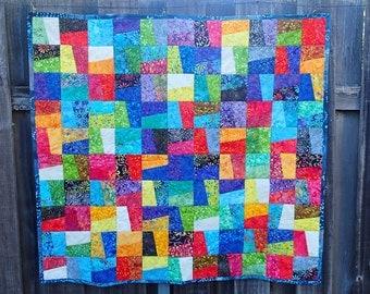 bright batik quilt ON SALE!!