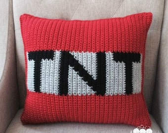 TNT Crochet Pillow Cover