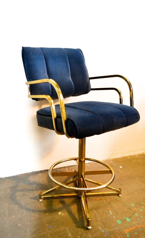 Vintage Blue Velour Swivel Arm Chair or Bar Stool Mid Century : il570xN6609736339pah from www.etsy.com size 570 x 933 jpeg 96kB