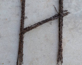 Barbed Wire Letter H