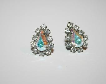 Beautiful Vintage Crystal Post Earrings