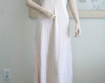Gorgeous Vintage Yolande 1930's-1940's Silk Night Gown, Hand Made, Soft Luscious Peachy Pink Silk, Bridal Trousseau, Boudoir Photography