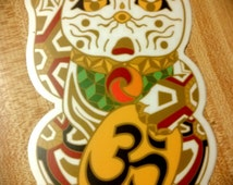 Japanese Lucky Cat Sticker