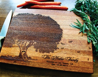 Mothers Day Gift, Personalized Cutting Board, Tree Cutting Board, Wedding Gift, Bridal Shower, Engagement Gift, Family Tree, Anniversary