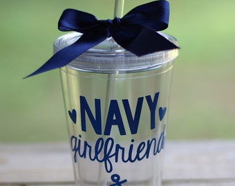 ON SALE! Any Color: Navy Girlfriend/Mom/Wife/Sister/etc 16 oz Tumbler