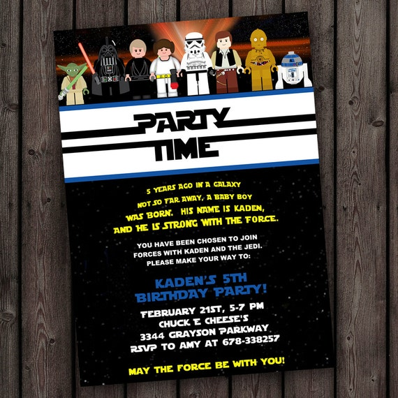 Star Wars Birthday Invites with awesome invitations design