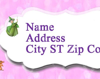 Sleeping Beauty Printable Address Label