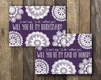 Printable Bridesmaid Proposal - Instant Download Bridesmaid Card - Will you be my Maid of Honor - Bridal Party Invitation - Be my Bridesmaid