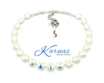 CRYSTAL AB 12mm Rivoli Crystal Choker Made With Swarovski Elements *Pick Your Finish *Karnas Design Studio *Free Shipping*