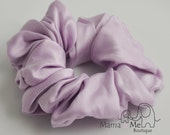 Pure silk hair scrunchie, lilac,100% mulberry charmeuse, Hypoallergenic Sensitive hair care, pony tail holder, natural hair product..hs1