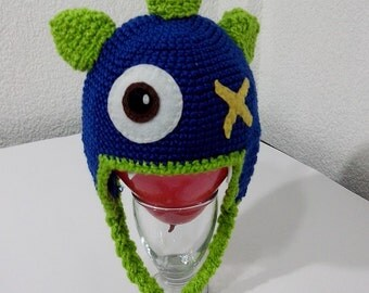 Super Cute Baby Monster Knitted Hat!