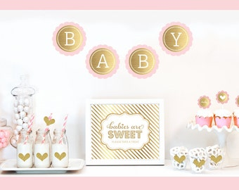 twin girl baby shower decor pink and gold baby shower ideas babies