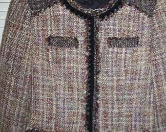 Jacket 10, Coldwater Creek tweedy nubby lavenderjacket size 10 - 12 lovely!