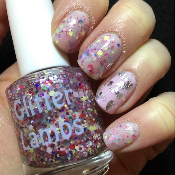 Cotton Candy Glitter Nails: Items Similar To Unicorns Love Cotton Candy Glitter Topper
