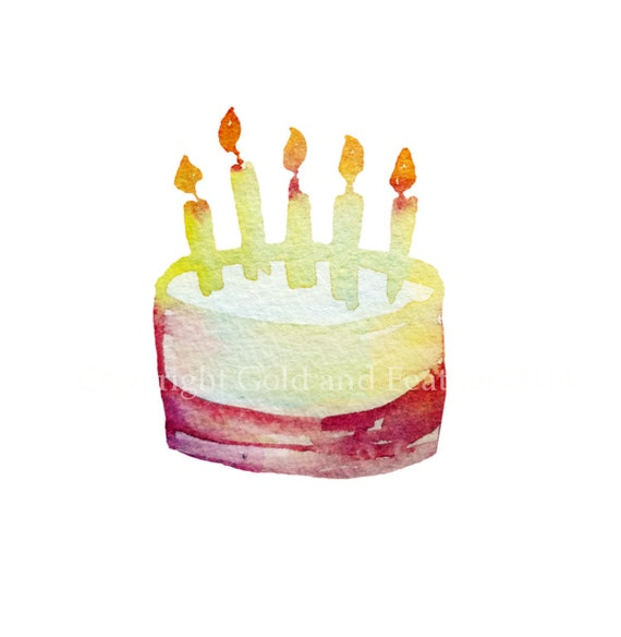 Happy Birthday Cake Clip Art Party Image Candles by ...