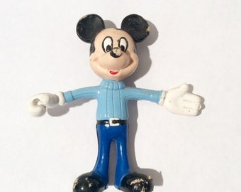 Vintage 1950s Rubber Bendy Mickey Mouse Doll/Figurine