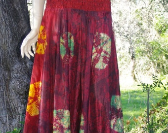 Eco-friendly Dress made from vintage saris from India .