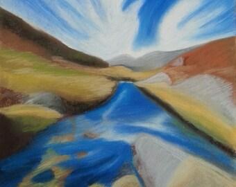 Original Art, Landscape, Nature Scene, Hand Drawn