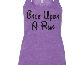 Running Tank Top. Once Upon A Run Tank Top. Run Disney Tank. Marathon Shirt. Running Tank. Running Shirt. Exercise Shirt. Gym Shirt