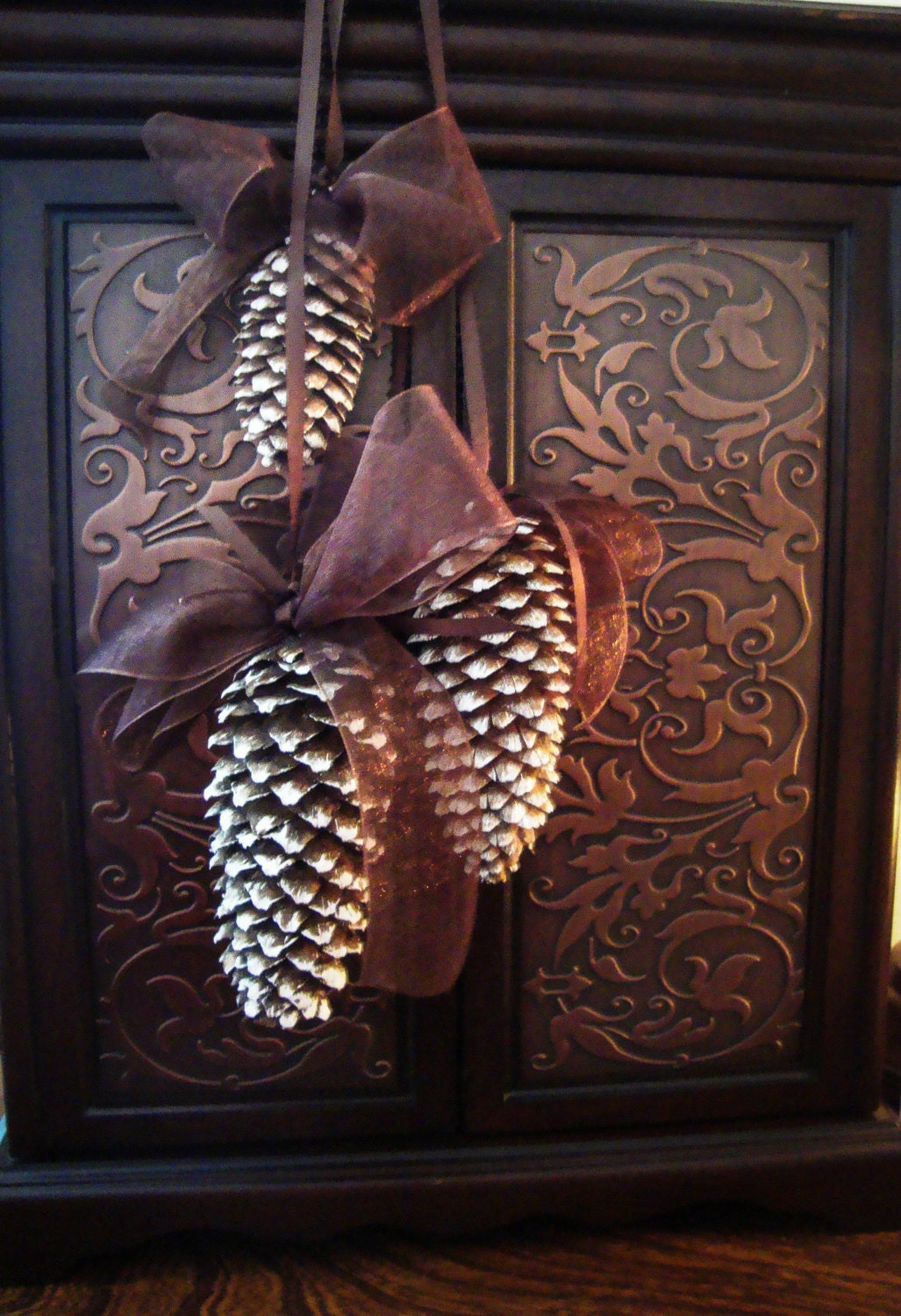 Natural Pine Cone Ornaments - Natural Christmas Ornament - Set of 3 Pine Cones - Holiday - Winter Decor - Gift Ideas - Housewarming Gift