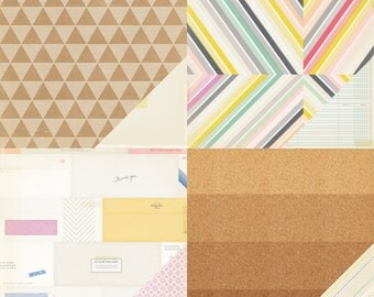 Notes & Things Paper Pack from Crate Paper - 8 Sheets