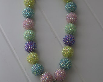 Easter inspired Pastel Chunky Bead Necklace