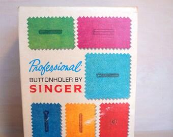 Vintage Singer Professional Buttonholer  Model 381116