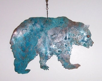 Smoky Mountain Bear Copper Patina Fan Chain Decor****FREE SHIPPING