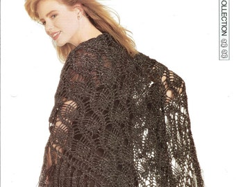 "Crochet pattern - Woman's ""Special Sparkle"" shawl wrap - Instant download"