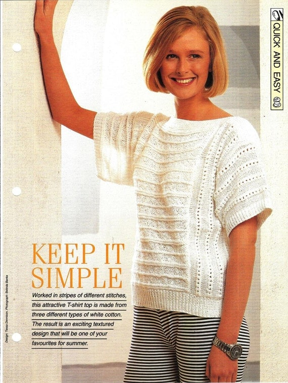 Knitting pattern Womans Keep It Simple