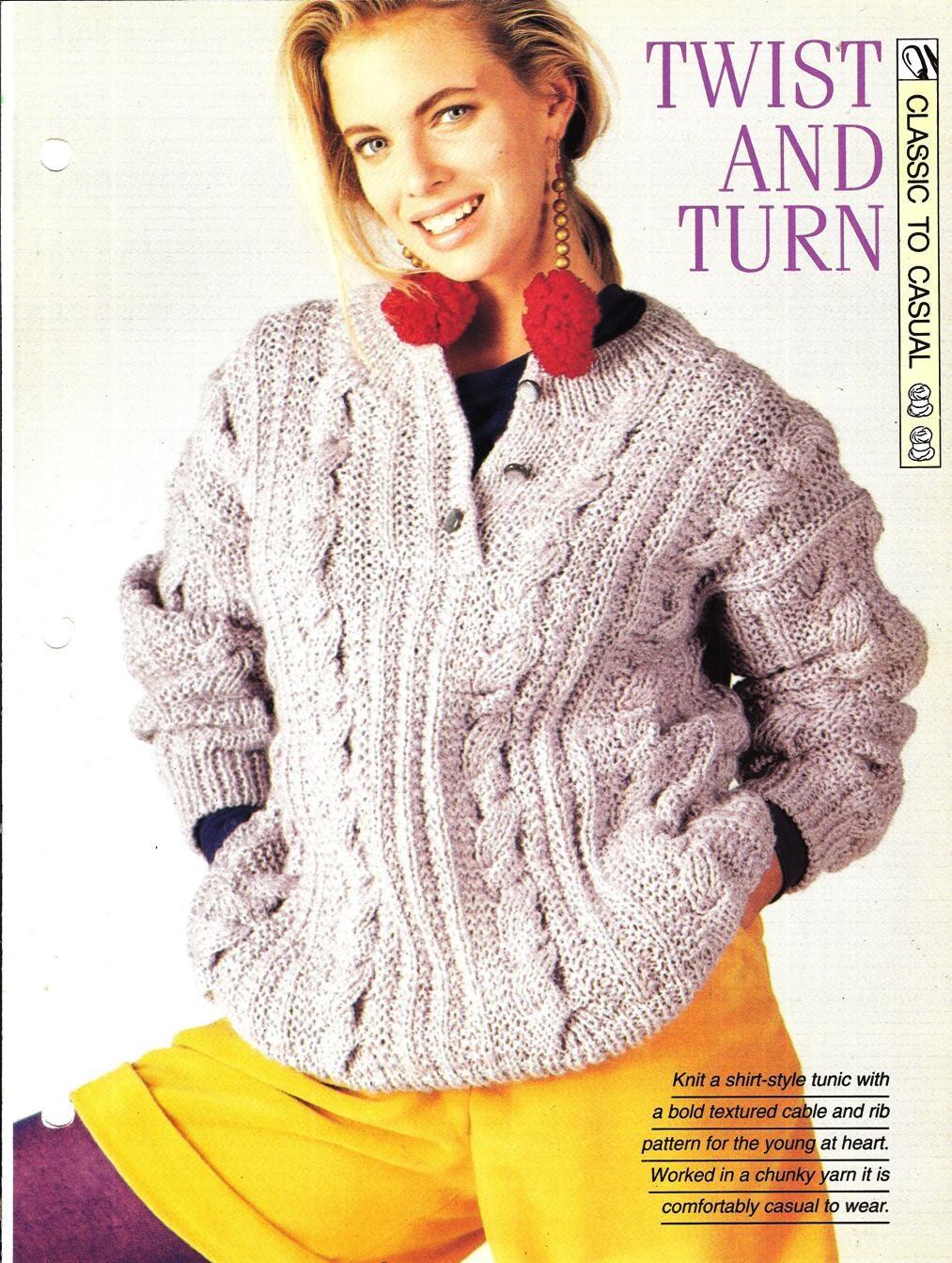 Knitting Pattern Turn : Knitting pattern Womans Twist And Turn