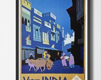 Visit India Travel Poster - Vintage Travel Poster visit India 1920