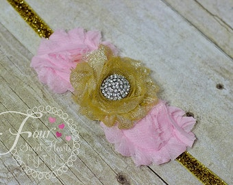 Add a Shabby Flower Headband Made to Match my Tutu Dress or Outfit