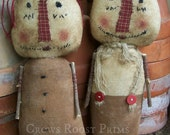 Primitive 1 Set 2 dolls Raggedy Andy and Annie-enter Coupon code 20CYBER for 20perc. off