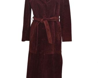 Vintage 1970's Full Length Suede Coat