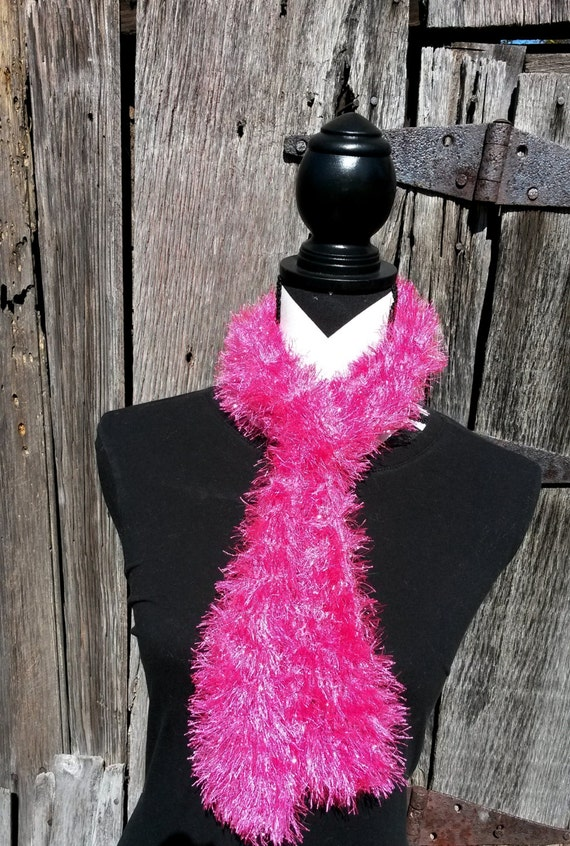 Knitting Pattern For Fun Fur Scarf : Fun fur knit scarf knitted scarf eyelash scarf hand knit